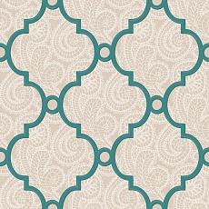 türkises Muster auf beigen Ornament