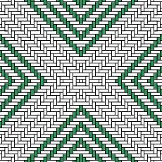 Webmuster in grün-weiß