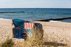 Der Strandkorb am Meer