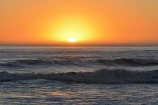 Brandung zum Sonnenuntergang