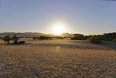 Sonnenuntergang bei Puros