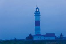 Leuchtturm zur Abenddämmerung auf der Insel Sylt, Schleswig-Holstein