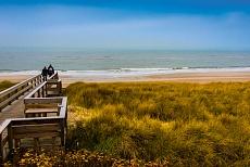 Strand und Steg in Sylt Wenningstedt, Nordfriesland