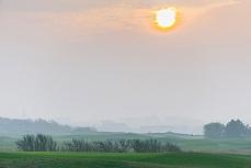 Sonnenuntergang Marine Golf Club in Sylt