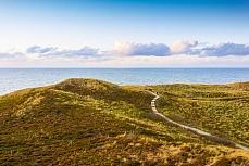 Blick von der Uwe-Düne auf die Dünenlandschaft in Sylt