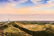 Sylt Kampen - Blick auf Leuchtturm und Dünenlandschaft