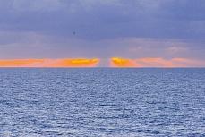 Sonnenuntergang am Strand in Sylt
