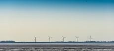 Windräder auf Strucklahnungshörn an der Nordsee