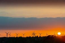 Nordfriesland bei Abendsonne an der Festlandküste Bredstedt