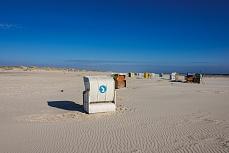 Strandkorbmotiv am Kniebsand auf Amrum