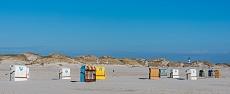 Strandkörbezählen am Kniepsand auf Amrum
