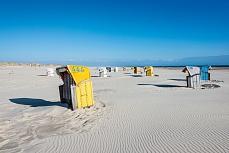 Ein Strandkorb von vielen auf Amrum