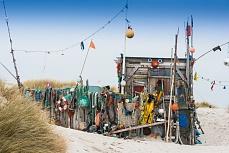 Moderne Kunst am Strand - Insel Amrum