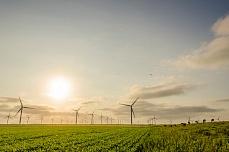 Windpark bei Bredstedt in Schleswig-Holstein