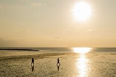 Sonnenuntergang am Holmer Siel auf Nordstrand