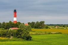 Nordfriesisch Insel Pellworm mit Leuchturm
