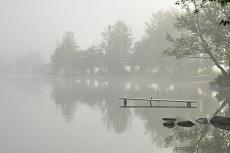Bootssteg im Morgennebel von Dagmar Schneider