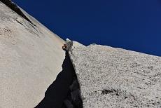 Kletterer in dem Great White Book in dem Yoesmite National Park