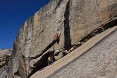 Kletterer am Polly Dome in dem Yosemite National Park