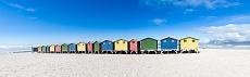 Muizenberg Beach Huts Panorama