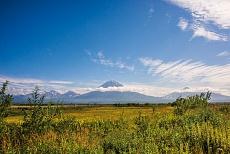Petropavlovsk-Kamchatsky Blick auf Koryaksky Vulkan