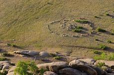 Steppenlandschaft von Khogno Khan Klosterruine Ovgon Hiid