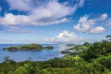 Mahé Port Glaud Blick auf Therese Island