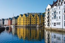 Hafen Jugendstilbauten Brosundet