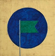 Fahne in Blau