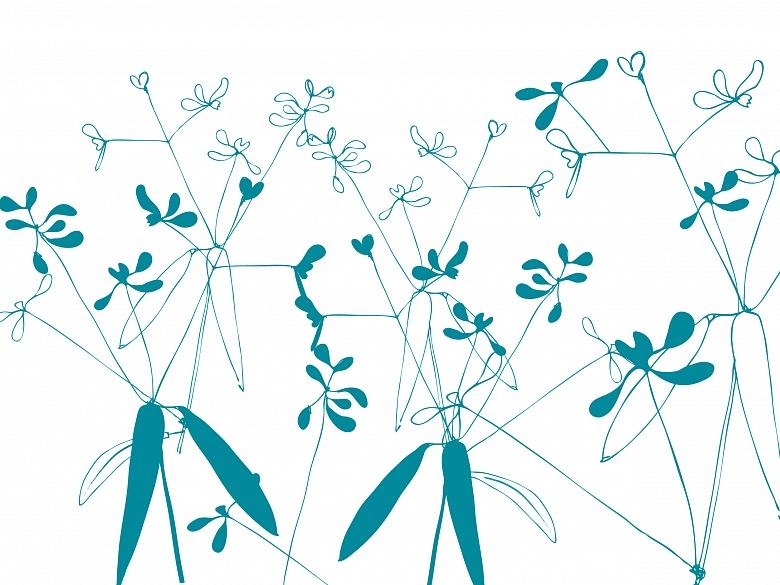 Floral, Farbvariante:brigtblaugrün