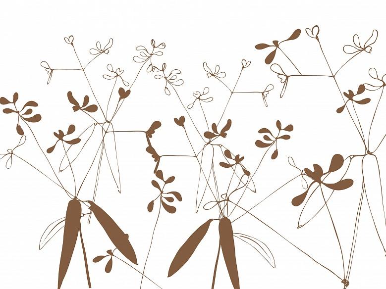 Floral, Farbvariante: darkbraun