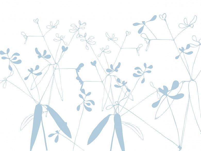 Floral, Farbvariante: midtoneblue