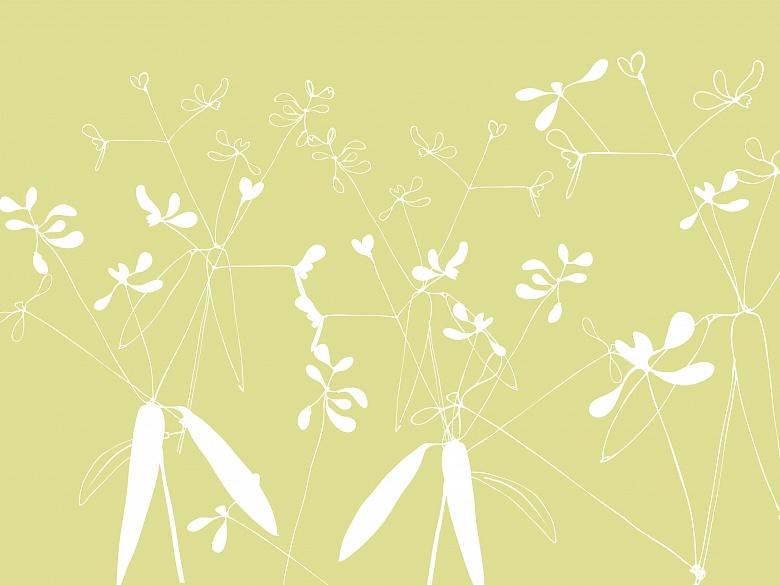 Grauweißfloral, Farbvariante: grün