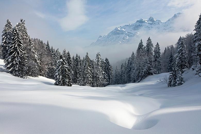 Fototapete Unberuhrte Winterlandschaft Tapeterie