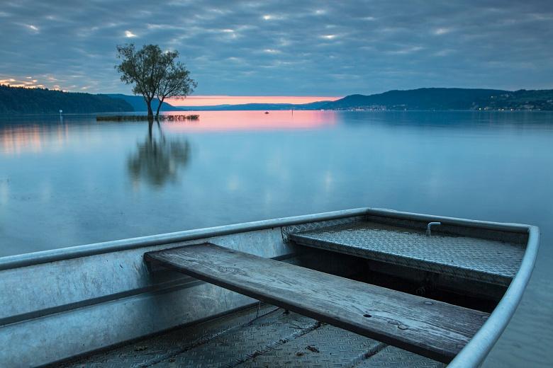 Abendstimmung Boot Klausenhorn