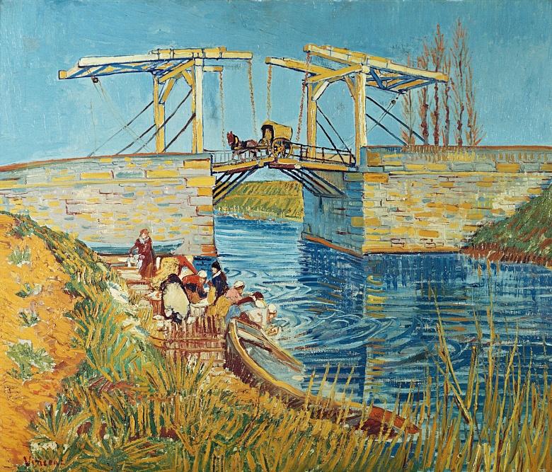 Zugbrücke in Arles (Le Pont de Langlois). 1888