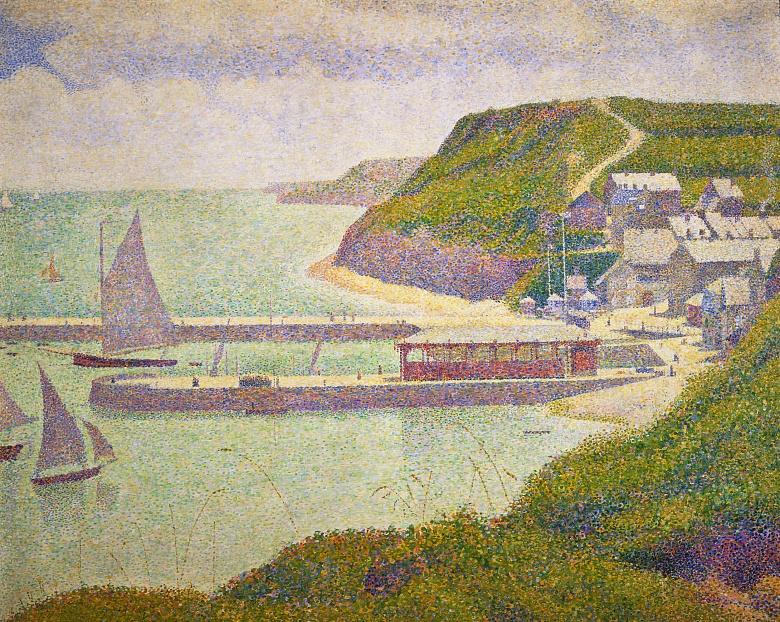 Port-en-Bessin bei Flut. 1888