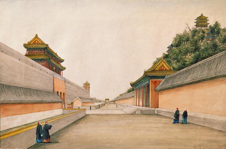 Der Kaiserpalast in Peking (chinesische Zeichnung)