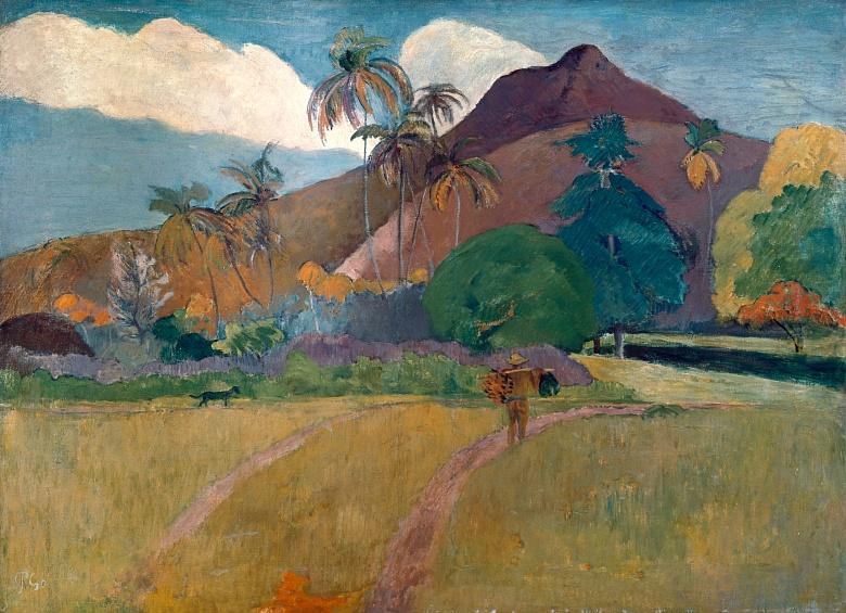 Paul Gauguin, Tahitianische Landschaft mit Gebirge. 1893