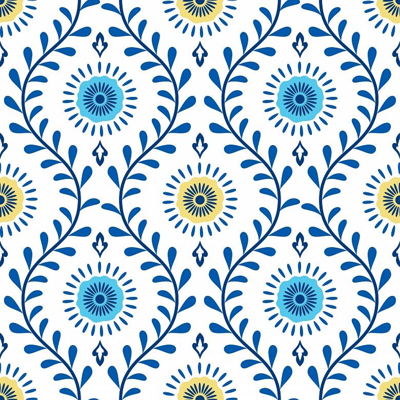 designer mariana manolache florales muster im medallion stil tapeterie. Black Bedroom Furniture Sets. Home Design Ideas