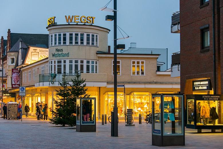 Stimmungsvolle Friedrichstrasse in Sylt Westerland, Nordseeküste