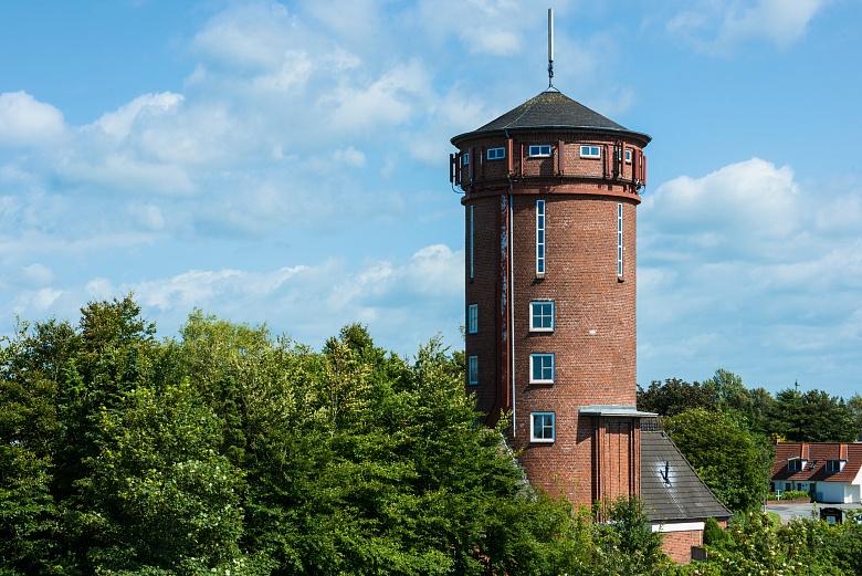 Wasserturm - fotografiert in Bredstedt