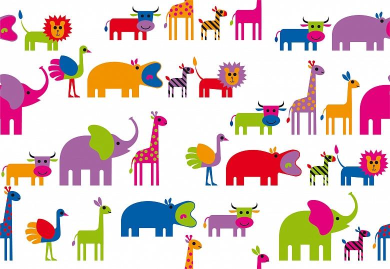 Kinder Tapeten Auf Rechnung : Moderne Kunsttapete – Tiere Tapeterie