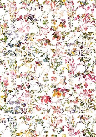 Designer tapete blumenmuster romantisch heiter tapeterie for Tapeten bestellen auf rechnung