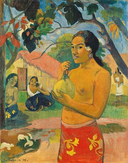 Frau, die eine Frucht hält. 1893
