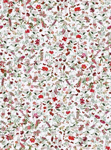 Designer Wallpaper Vintage Flower Pattern Tapeterie
