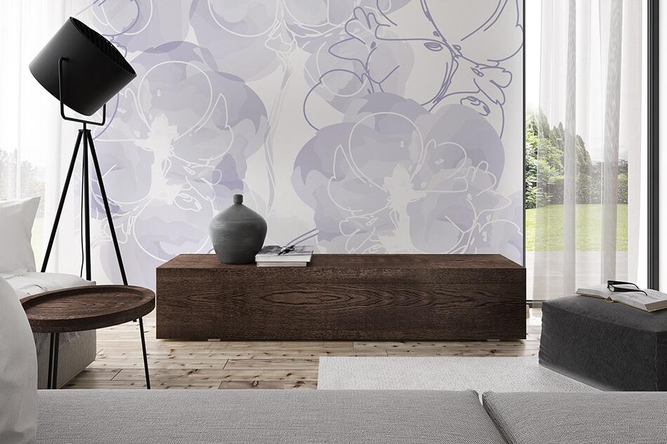 Designer Tapete - Blüten abstrakt 01 - Christiane Elle