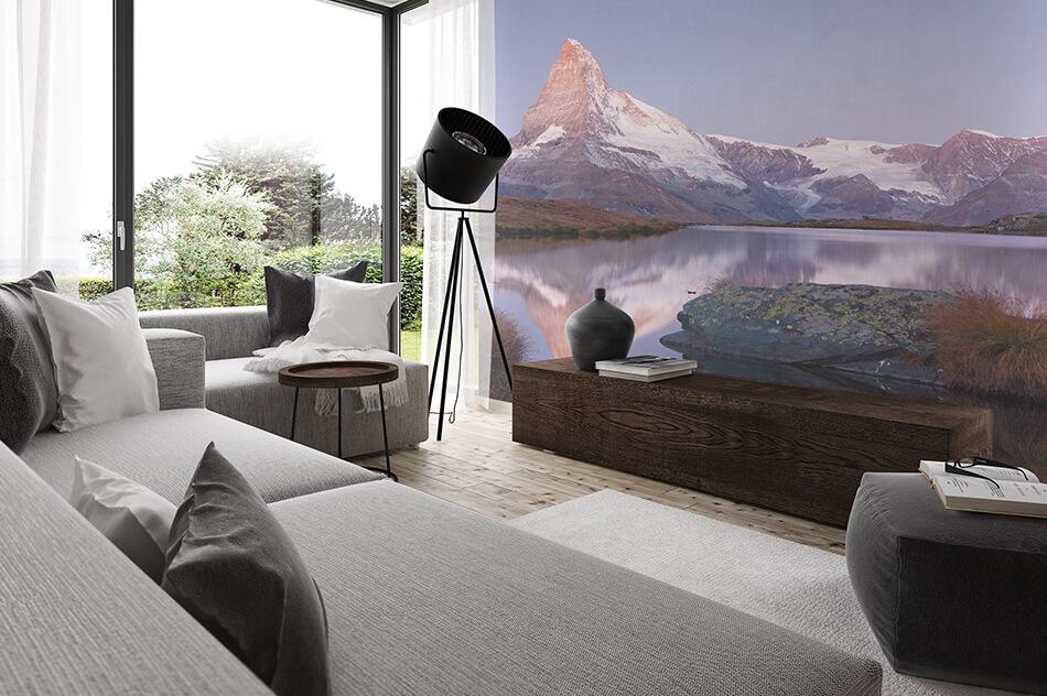 Fototapete - Fototapete mit Bergmotiv - Matterhorn und Stellisee - Stefan Arendt