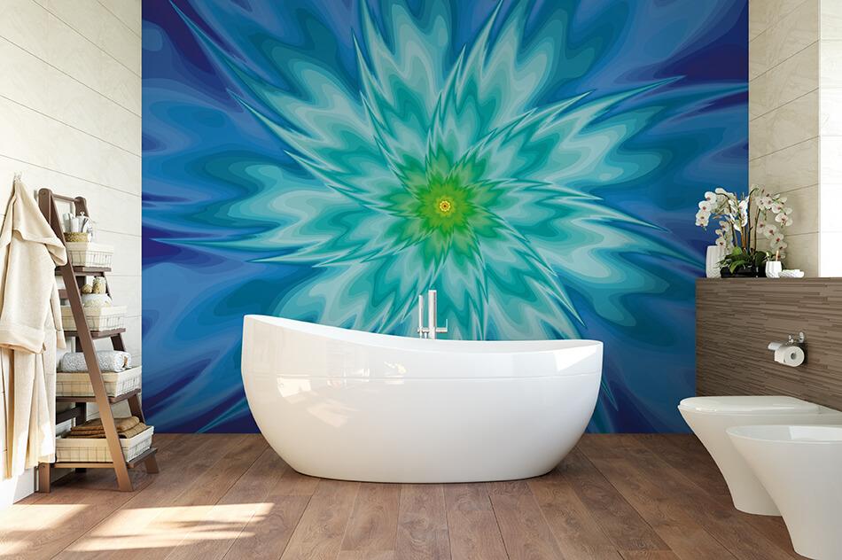 Mustertapeten Fraktal Design farbig - Design-Serie Phantasie-Blumen 20 - Bernhard Throll