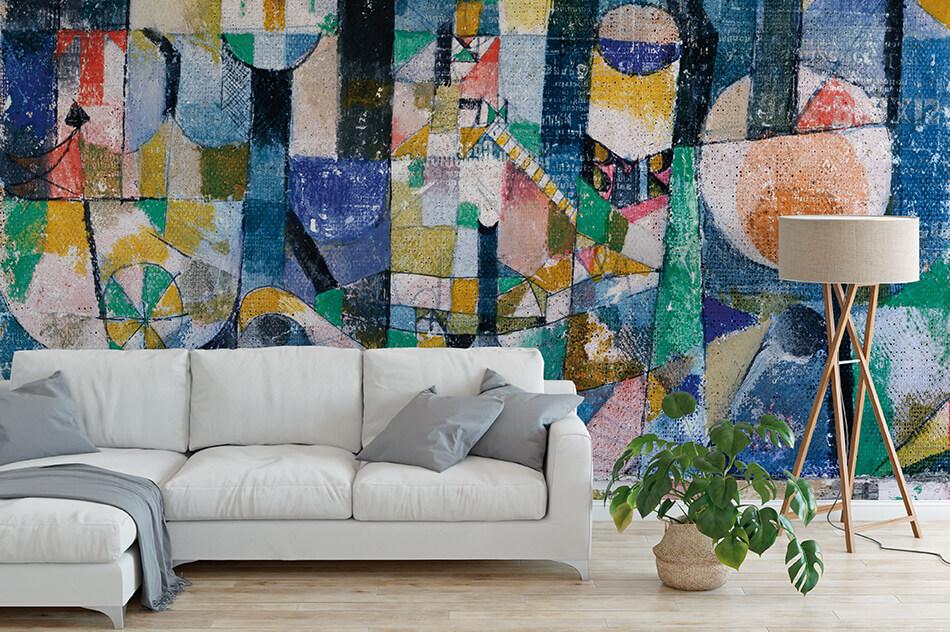 Kunsttapeten Abstrakt - Paul Klee, Hafenbild (Raddampfer) - Artothek